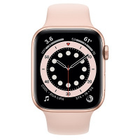 Apple Watch Series 6 (GPS) 44mm Gold Aluminum Case with Pink Sand Sport Band (Розовый песок)