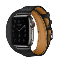 Apple Watch Hermes Series 6 40mm Space Black Stainless Steel Case with Double Tour