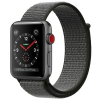 Apple Watch Series 3 (GPS+Cellular) 38 mm Space Gray Aluminum Case/Dark Olive Sport Loop (Оливковый)