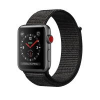 Apple Watch Series 3 (GPS+Cellular) 42 mm Space Gray Aluminum Case/Black Sport Loop (Черный)