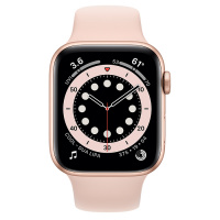 Apple Watch Series 6 (GPS) 40mm Gold Aluminum Case with Pink Sand Sport Band (Розовый песок)