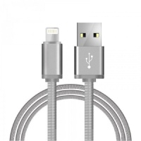 Кабель Monarch USB to Lightning в металлической оплетке Silver