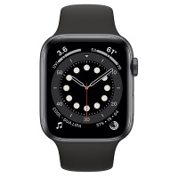 Apple Watch Series 6 (GPS) 40mm Space Gray Aluminum Case with Black Sport Band (Черный)