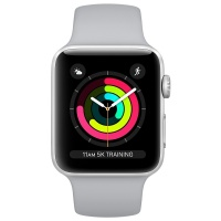 Apple Watch Series 3 (GPS) 38 mm Silver Aluminum Case with Fog Sport Band (Дымчатый)