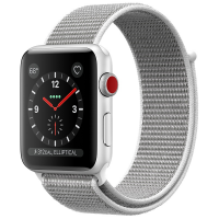 Apple Watch Series 3 (GPS+Cellular) 38 mm Silver Aluminum Case/Seashell Sport Loop (Белая ракушка)